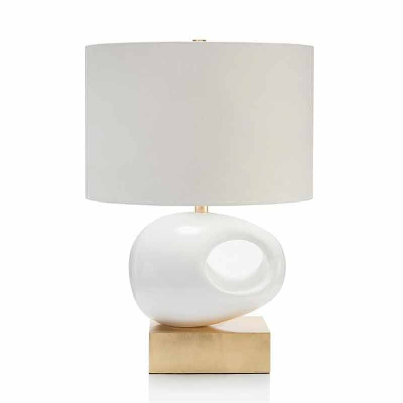 Home lighting fixtures table lamps and accent desk lamp john richard sculture table lamp on gold base jrl 9601 aloadofball Images