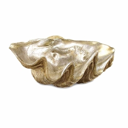John-Richard Silver Leafed Clam Shell JRA-7971