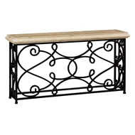 "Jonathan Charles Home 72"" Width Rectangular Limed Wood Console 495064-72L"