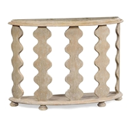 Jonathan Charles Home Demilune Console Table In Limed Acacia 495386
