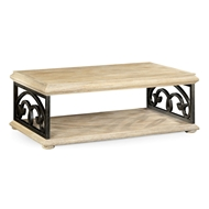 Jonathan Charles Home Limed Wood Coffee Table With Wrought Iron Base 495173