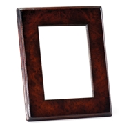 "Jonathan Charles Wall Decor Crotch Mahogany Picture Frame Stepped Borders (5""X7"")"