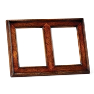 "Jonathan Charles Home 5""X7"" Double Country Walnut Picture Frame 493308"
