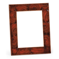 "Jonathan Charles Wall Decor Oyster Veneered Picture Frame (5""X 7"")"