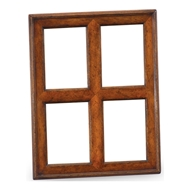"Jonathan Charles Wall Decor Quadruple Country Walnut Picture Frame (5""X 7"")"
