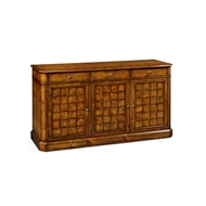 "Jonathan Charles Home 68"" Country Walnut Three Door Sideboard 491001-CFW Walnut Country Farmhouse"