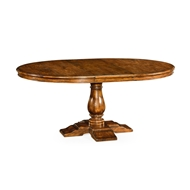 "Jonathan Charles Home 55"" Circular Extending Dining Table In Country Walnut 491009-55D"