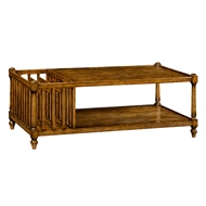 Jonathan Charles Home Antique Dark Grey Rectangular Coffee Table 491012