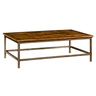 Jonathan Charles Home Country Walnut Rectangular Coffee Table 491015