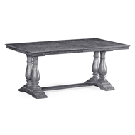 Jonathan Charles Home Antique Dark Grey Rectangular Extending Dining Table 491019-71L