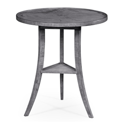 Jonathan Charles Home Antique Dark Grey Round Lamp Table 491022