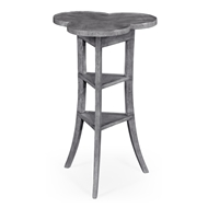 Jonathan Charles Home Trefoil Side Table With Dark Grey 491037