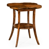 Jonathan Charles Home Quatrefoil Lamp Table In Country Walnut