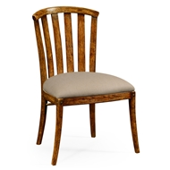 Jonathan Charles Home Country Walnut Style Curved Back Chair 491047-SC-CFW-F001 Walnut Country Farmhouse