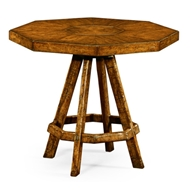 Jonathan Charles Home Country Walnut Side Table With Octagonal Top 491048