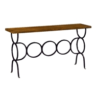 Jonathan Charles Home Antique Dark Grey Style Console 491053