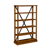 Jonathan Charles Home Country Walnut Style Walnut Tagere Or Bookcase 491055