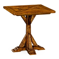 Jonathan Charles Home Country Walnut Style Walnut Square Side Table