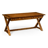 Jonathan Charles Home Country Walnut Style Walnut Desk 491058-CFW Walnut Country Farmhouse