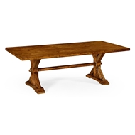 Jonathan Charles Home Large Solid Country Walnut Topped Dining Table 491059-90L