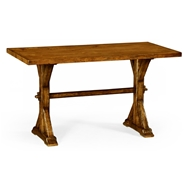 Jonathan Charles Home Small Solid Country Walnut Topped Dining Table 491061-54L