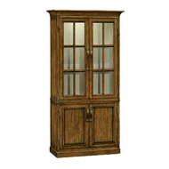 Jonathan Charles Home Plank Country Walnut Tall Bookcase With Strap Handles 491065