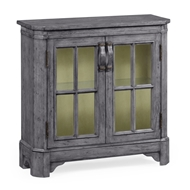 Jonathan Charles Home Antique Dark Grey Plank Low Bookcase 491067
