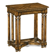 Jonathan Charles Home Country Walnut Parquet Nesting Tables 491078
