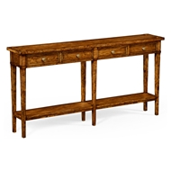 Jonathan Charles Home Country Walnut Four Drawer Console 491083