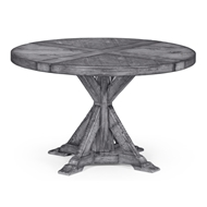 "Jonathan Charles Home 48"" Antique Dark Grey Circular Dining Table 491086-48D"