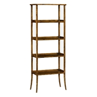 Jonathan Charles Home Four-Tier Etagere In Antique Dark Grey