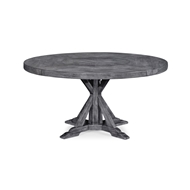 "Jonathan Charles Home 60"" Circular Dining Table In Antique Dark Grey 491101"