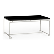 Jonathan Charles Home Silver Iron Rectangular Coffee Table 491104