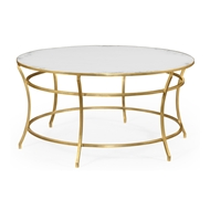 Jonathan Charles Home Gilded Iron Round Coffee Table 491111