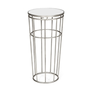 Jonathan Charles Home Silver Iron Round End Table