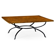 Jonathan Charles Home Country Walnut Style Panelled Square Coffee Table 491126
