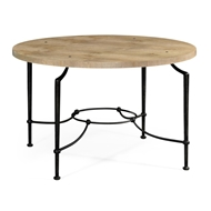 Jonathan Charles Home Round Centre Table With Iron Base