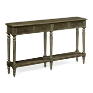 Jonathan Charles Home Large Narrow Chestnut Console
