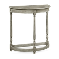 Jonathan Charles Home Rustic Grey Demilune Console Table 491162