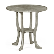 Jonathan Charles Home Rustic Grey Round Lamp Table 491163