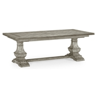 "Jonathan Charles Home 86"" Extending Dining Table In Rustic Grey 491169-86L"