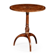 Jonathan Charles Home Small Lamp Table With Starburst Inlay