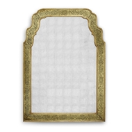 Jonathan Charles Wall Decor Gold Glomis Mirror 492092-GEG-GES Glass Genuine Gold-leaf Eglomise