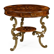 Jonathan Charles Home Oyster Round Table On Brass Base