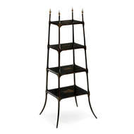 Jonathan Charles Home Regency Style Black Four-Tier Etagere 492121