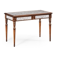 Jonathan Charles Home Glomis Library Table 492226-WAL Walnut Medium