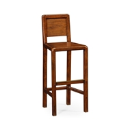 Jonathan Charles Home Planked Walnut Barstool (Side) 492244 Walnut Medium Country Distressed