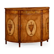 Jonathan Charles Home Adam Style Demilune Cabinet (Satinwood) 492253-SAM Satinwood Medium