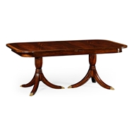 Jonathan Charles Home Regency Crotch Single Leaf Extending Dining Table 492266-75L-MAH Antique Mahogany Light