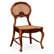 Jonathan Charles Home French Style Salon Chair With Caned Back (Side) 492276-SC-WAL Walnut Medium